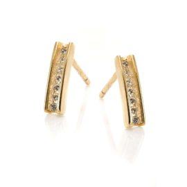Kolczyki diamonds złote 585 z brylantami