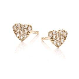Kolczyki mini złote serce