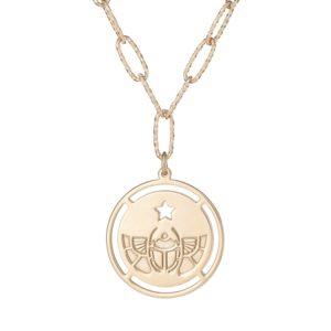 """Naszyjnik amulet srebrny pozłacany z napisem """"ochronię cię"""""""