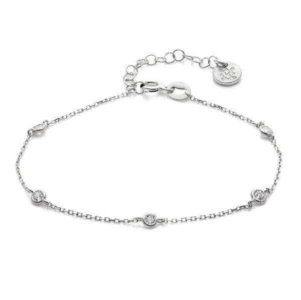 Bransoletka glamour srebrna z cyrkoniami