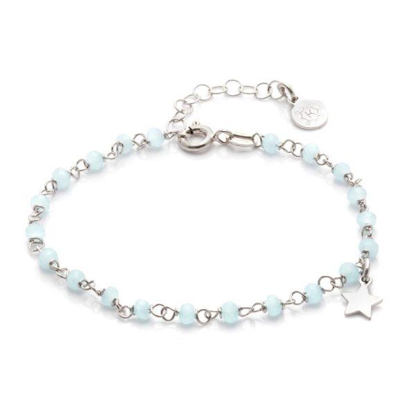 Bransoletka oval srebrna z niebieskimi kamieniami