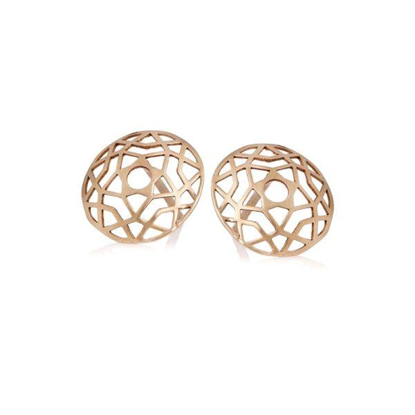 Kolczyki golden eye złote ażurowe 10 mm