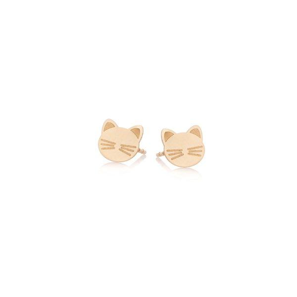 Kolczyki golden eye złote z kotkami