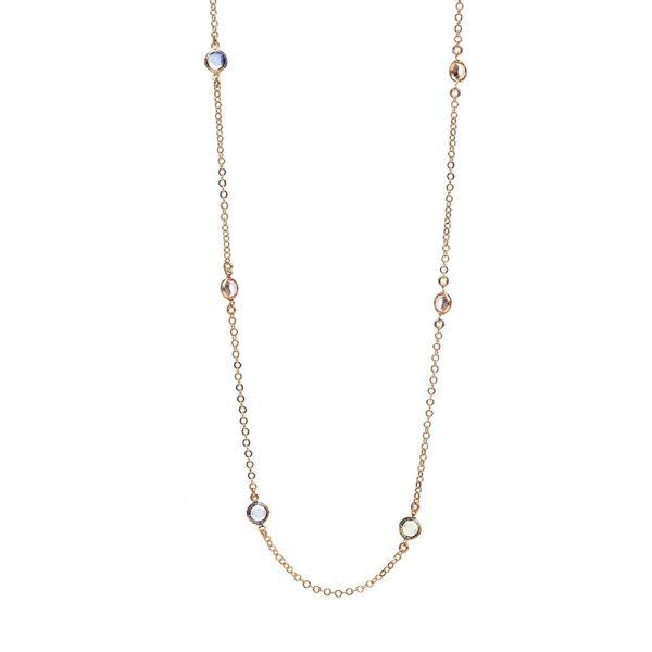 Naszyjnik aida srebrny pozłacany na różowo z kryształami swarovskiego
