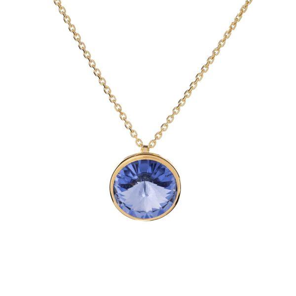Naszyjnik aida srebrny pozłacany z kryształem swarovskiego