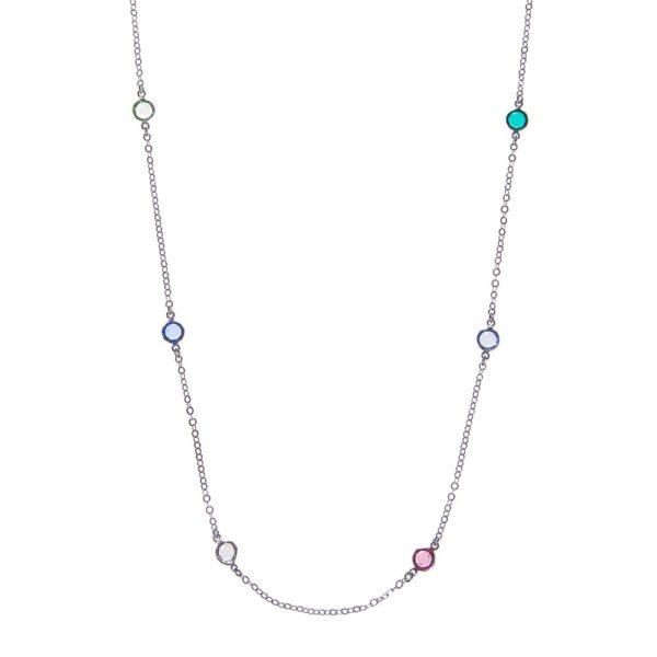 Naszyjnik aida srebrny z kryształami swarovskiego