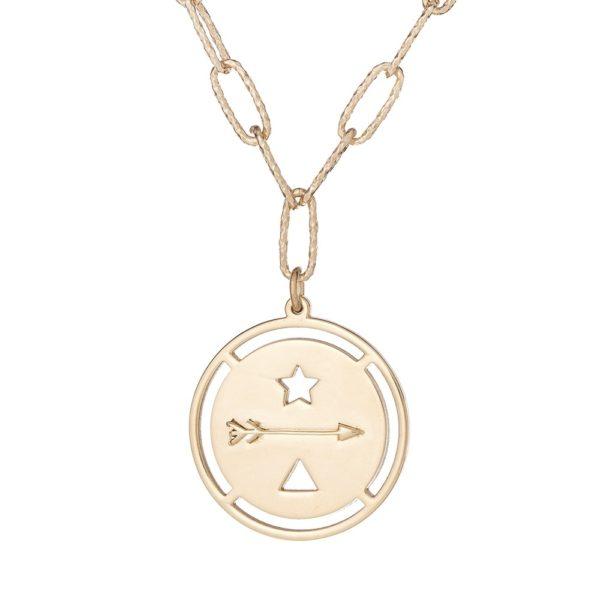 """Naszyjnik amulet srebrny pozłacany z napisem """"goń marzenia"""""""