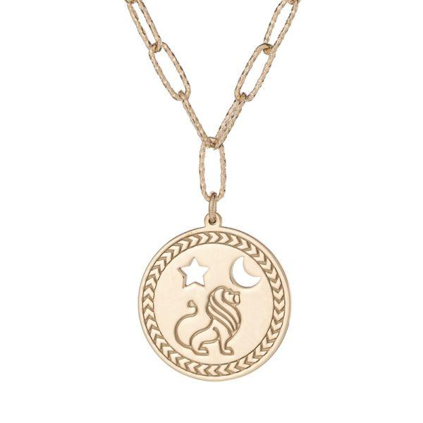 "Naszyjnik amulet srebrny pozłacany z napisem ""jesteś silna"""