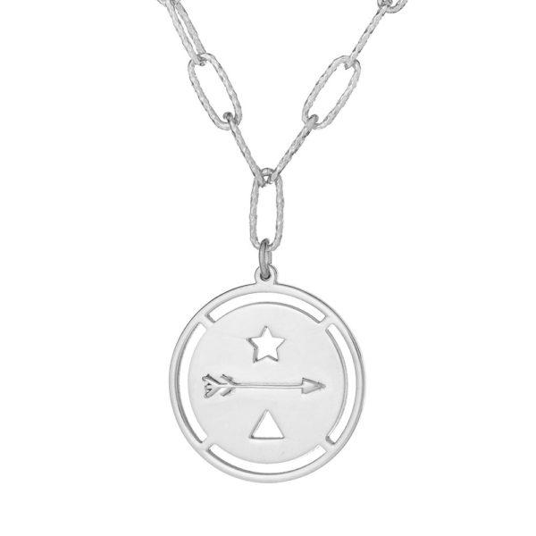 """Naszyjnik amulet srebrny z napisem """"goń marzenia"""""""