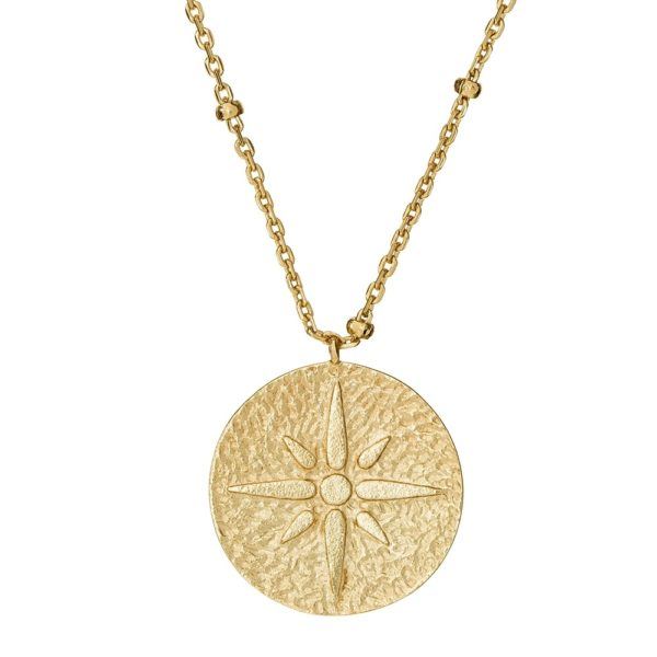 Naszyjnik astro srebrny pozłacany medalion