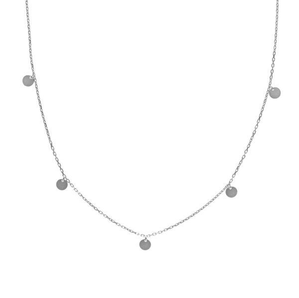 Naszyjnik choker cosmo srebrny