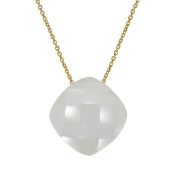 Naszyjnik dolce vita złoty z kamieniem księżycowym