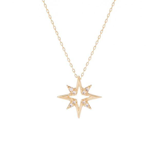 Naszyjnik glow złoty z gwiazdką i cyrkoniami