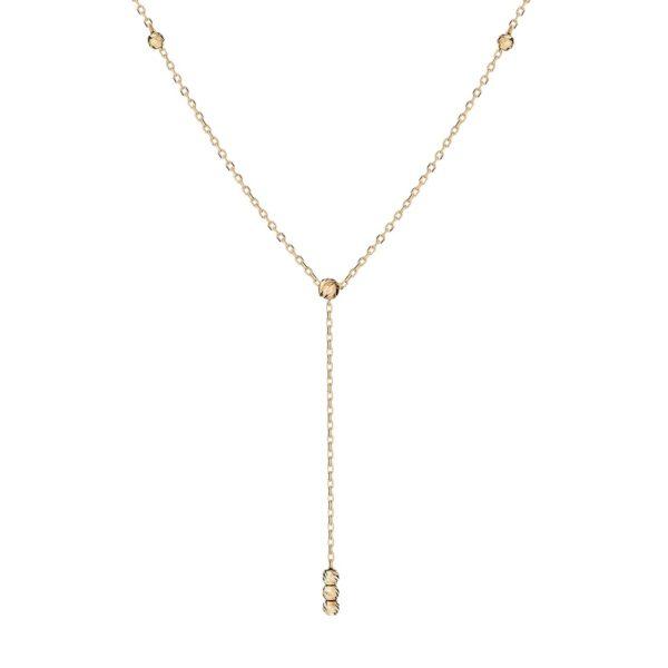 Naszyjnik nyks złoty z kuleczkami