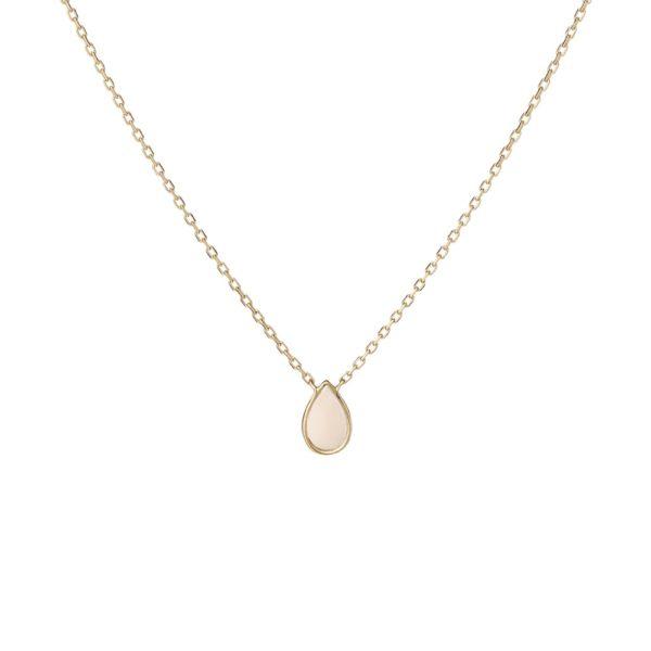 Naszyjnik nyks złoty z masą perłową