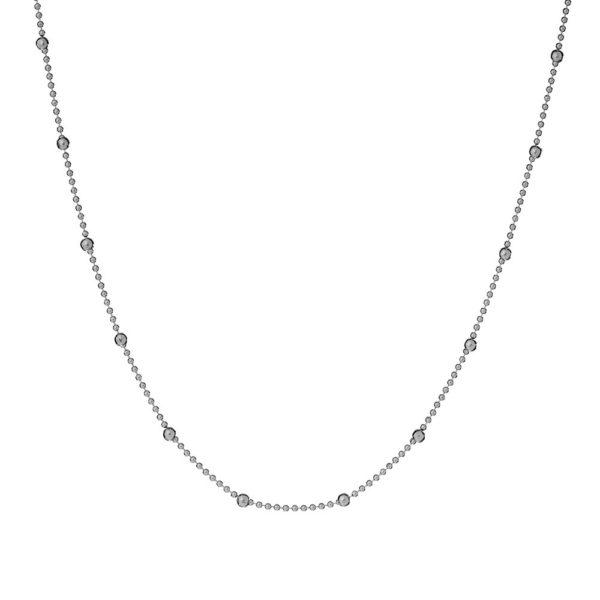 Naszyjnik urban chic srebrny z kuleczkami